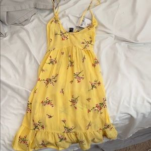 NEW yellow floral dress